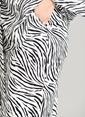 People By Fabrika Zebra Desenli Pantolon Siyah